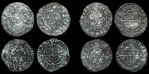 English Tudor - Henry VIII - 4 Sovereign Pennies - Durham