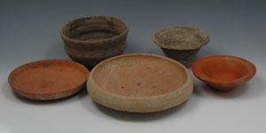 Roman - Group of Five Cups, Bowls and Dishes