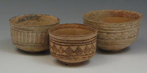 Indus Valley Bronze Age  - Three Pottery Vessels