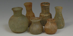Roman - Group of Six Glass Bottles and Phials