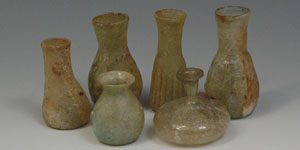Roman - Group of 6Six Glass Bottles and Phials