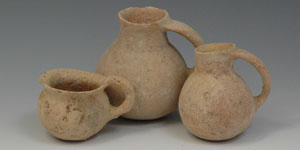 Phoenician Bronze Age Holy Land - Dipper Cup and 2 Jars