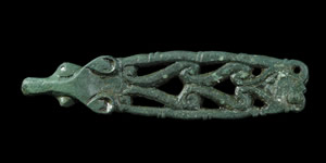 English Anglo-Saxon - Zoomorphic Openwork Strap End