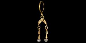 Byzantine Gold Double-Drop Earring