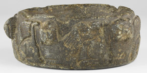 Western Asiatic Offering Dish with Winged Beasts