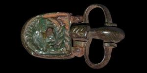 Byzantine Buckle with Saint