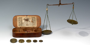 William III - Boxed Coin Scales and Weights