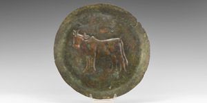 Indus Valley Offering Dish with Bull
