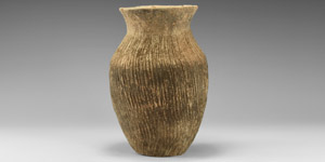 Chinese Neolithic Textured Greyware Jar