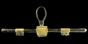 Medieval Gilt-Bronze Tears of Christ Purse Bar