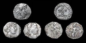 Roman Empire - Three Imitative Siliquae