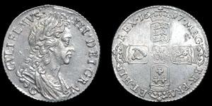 William III - Chester Shilling - 1697C