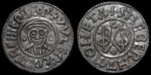Archbishops of Canterbury - Wulfred - Group II Transitional Monogram Penny - Canterbury, Sæbeorht