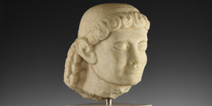 Eastern Greek Youthful Head of a Kouros