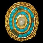 Tudor - Turquoise Inlaid Jeweled Mount