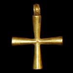 Byzantine - Gold Cross Pendant