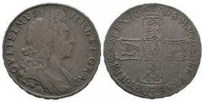 English Milled Coins - William III - 1698 - Halfcrown