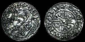 Anglo-Saxon - Rare Harthacnut - Arms and Sceptre Penny - London, Leofstan