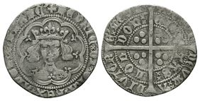 English Medieval Coins - Henry V - London - Frowning Bust Groat