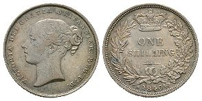 English Milled Coins - Victoria - 1840 - Shilling