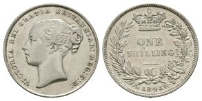 English Milled Coins - Victoria - 1843 - Shilling