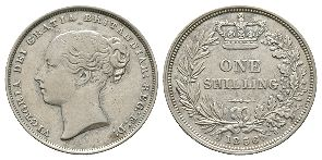 English Milled Coins - Victoria - 1856 - Shilling