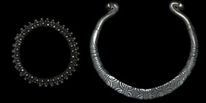 North Africa - Tribal - Silver Torc and Bangle