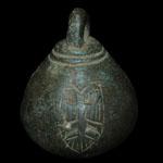 English Medieval - Bronze Armorial Steelyard Weight
