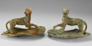 Roman Panther Statuette Pair