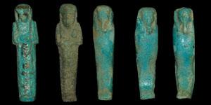 Egypt - Five Small Shabti Figurines