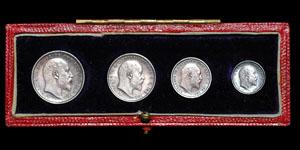 Edward VII - Cased Maundy Set(4) - 1903