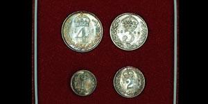 Edward VII - Cased Maundy Set(4) - 1906