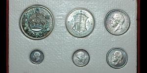 George V - Cased Proof Silver Set (6) - 1927