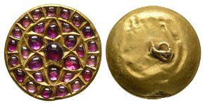Indian Gold and Garnet Turban Jewel