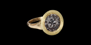 Byzantine Chi-Rho Intaglio in Gold Ring