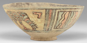 Indus Valley Mehrgarh Polychrome Vessel with Birds