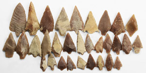Stone Age 30 North African Barbed and Tanged Arrowheads
