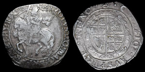 Charles I - Tower Halfcrown - Group IV - mm Triangle-in-Circle