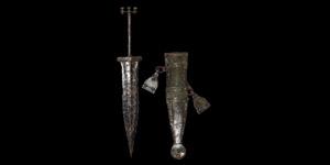 Iron Age Celtic Pugio Dagger with Scabbard