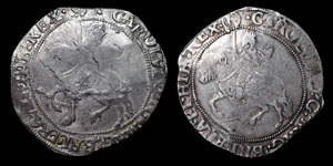 Charles I - Tower Halfcrowns (2) - Group III - mm (P) and (R)