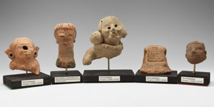 Pre Columbian Terracotta God Group