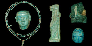 Egypt - Necklace, Amulets and Small Items