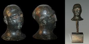 Celtic Iron Age - Romano British Bronze Head