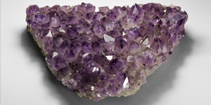 Natural History Amethyst Crystals Display Section