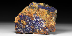 Natural History - Large Azurite Mineral Section