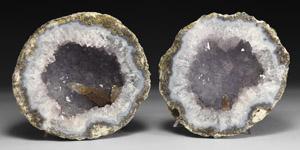 Natural History - Pale Amethyst Geode Pair