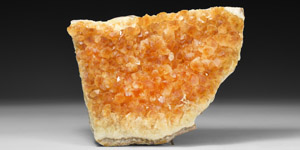 Natural History - Citrine Geode Section