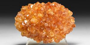 Natural History - Citrine Porcupine Mineral Specimen