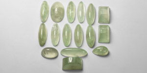 Natural History - 245 Carat Prehnite Cabochon Group