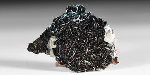 Natural History - Specularite with Quartz Mineral Specimen